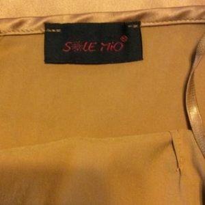 Solemio Dresses - Sole Mio Gold Slip Dress